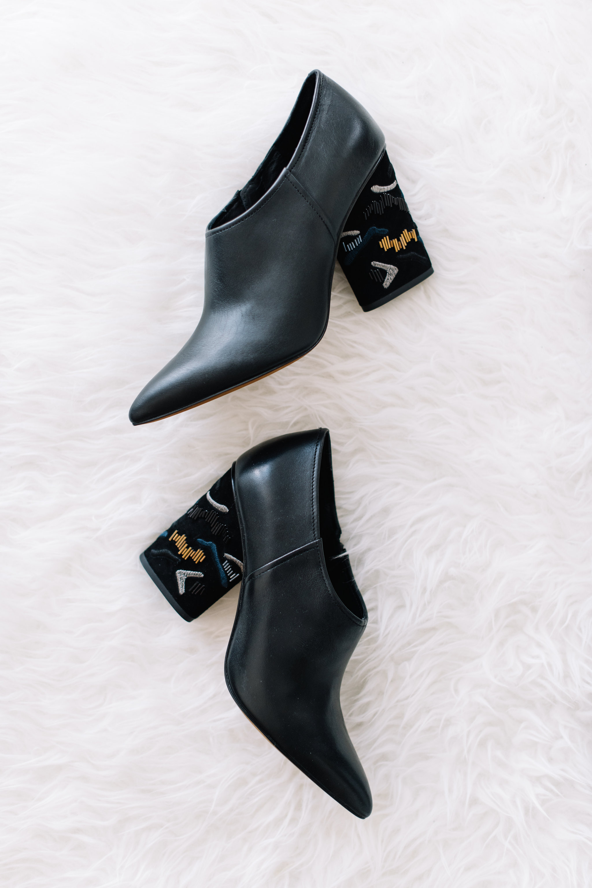 stylish black booties