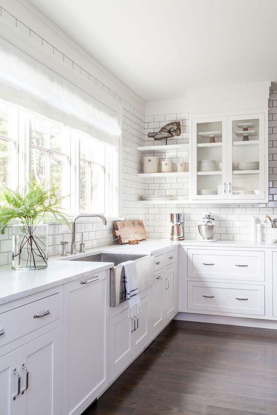 white farm kitchen