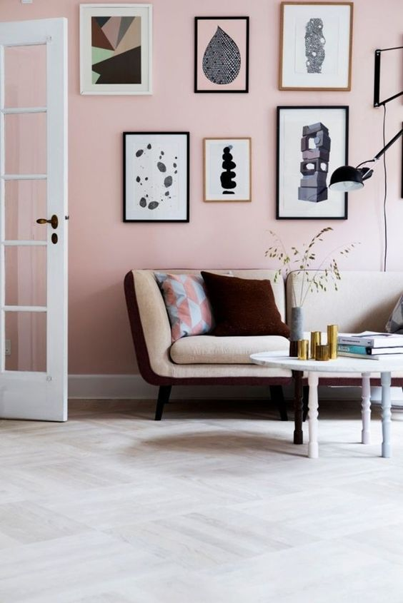decorating with blush pink