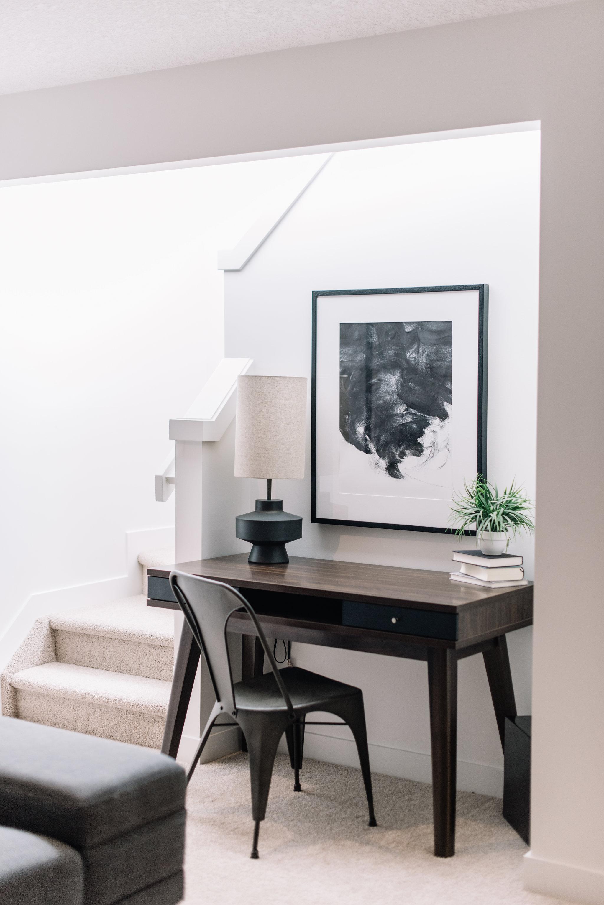 modern desk, modern bachelor office