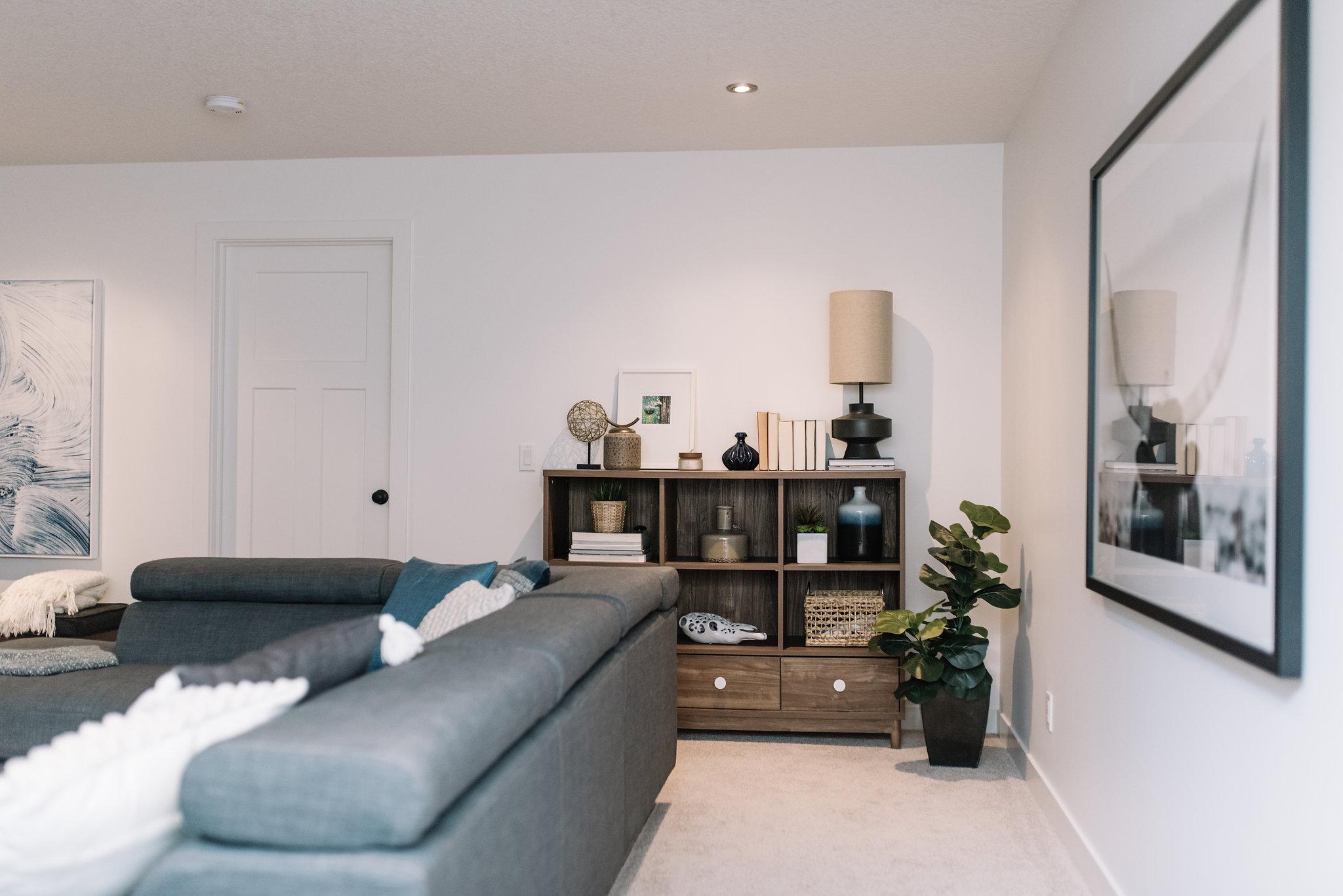 minimalist masculine room