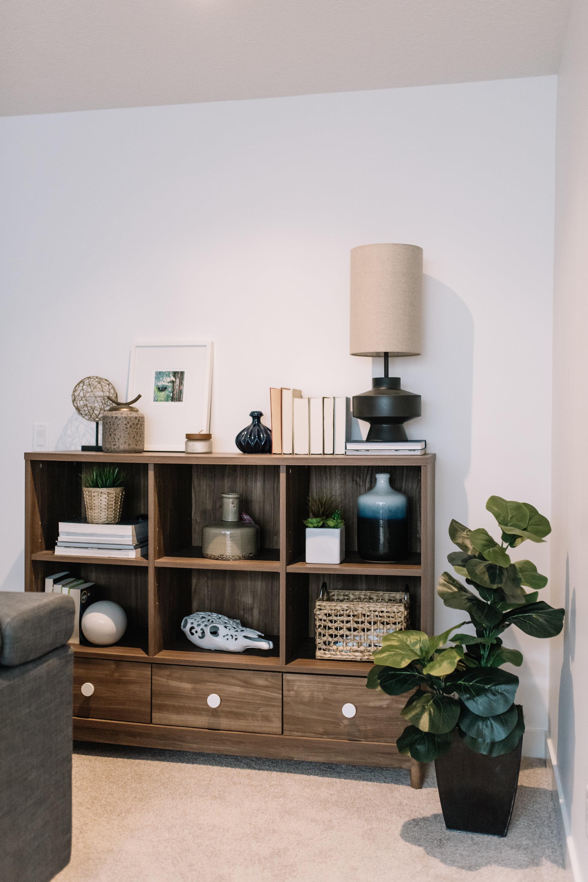 mid century modern shelving