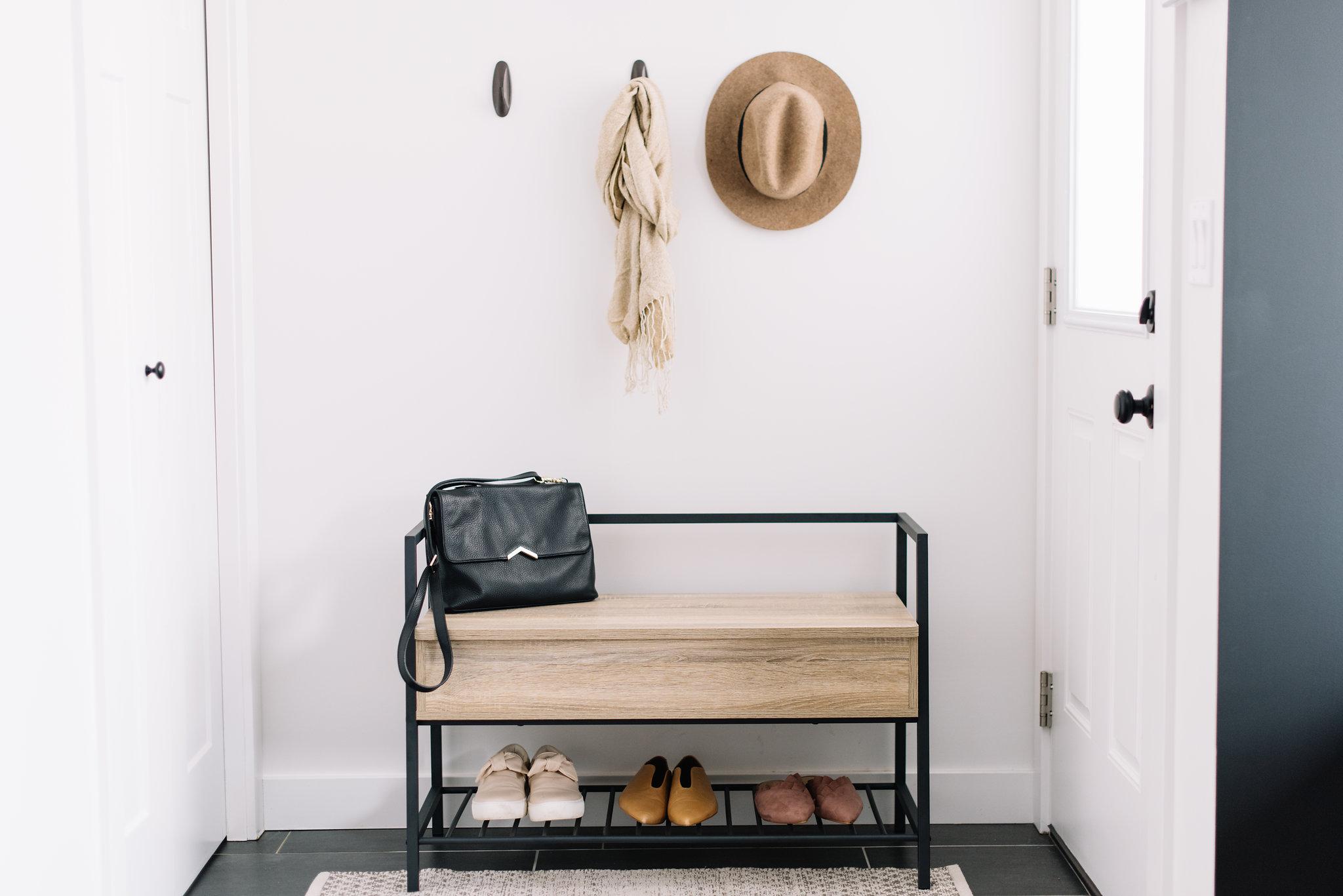 modern storage bench