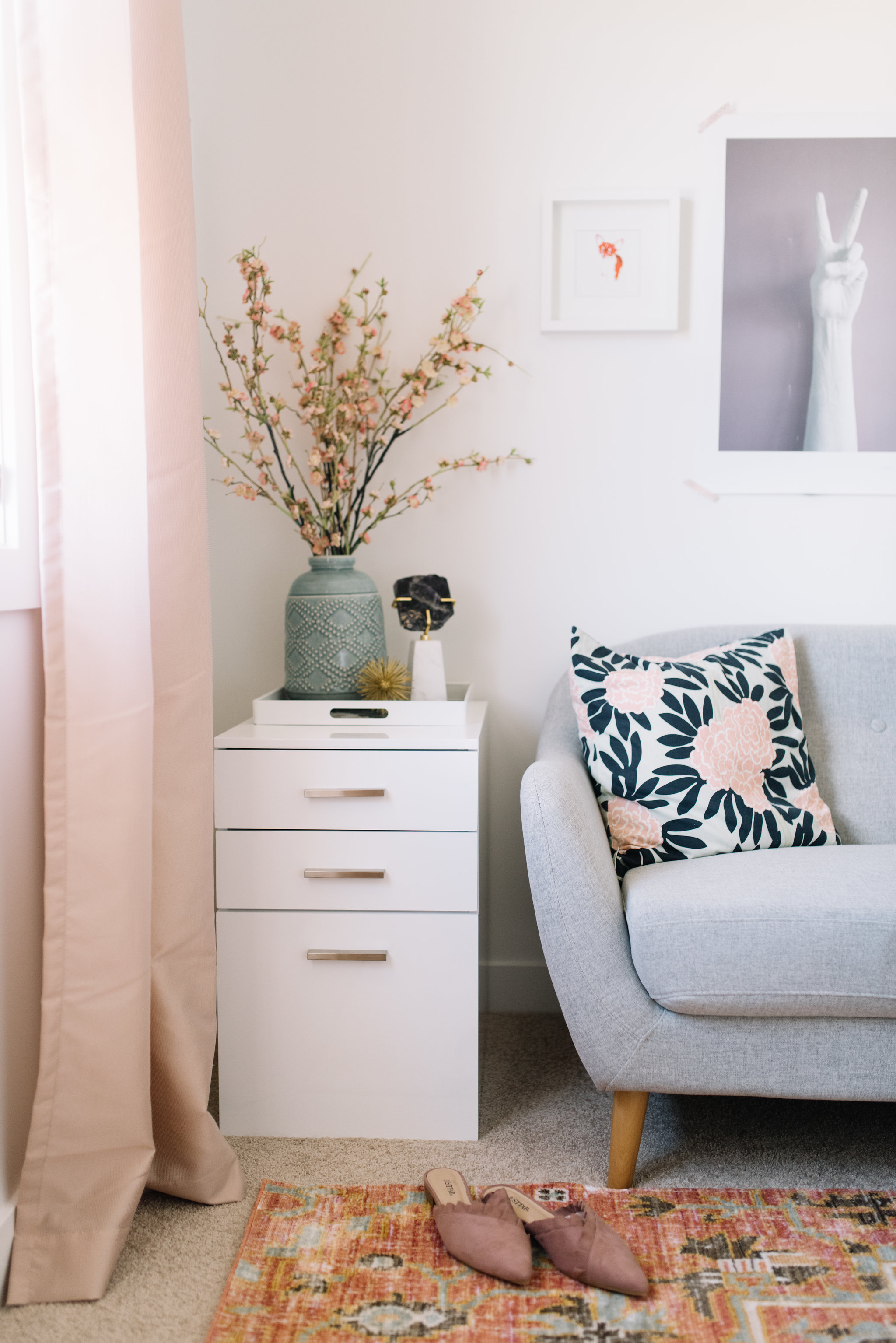 sofa in home office