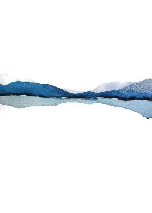 blue abstract artwork