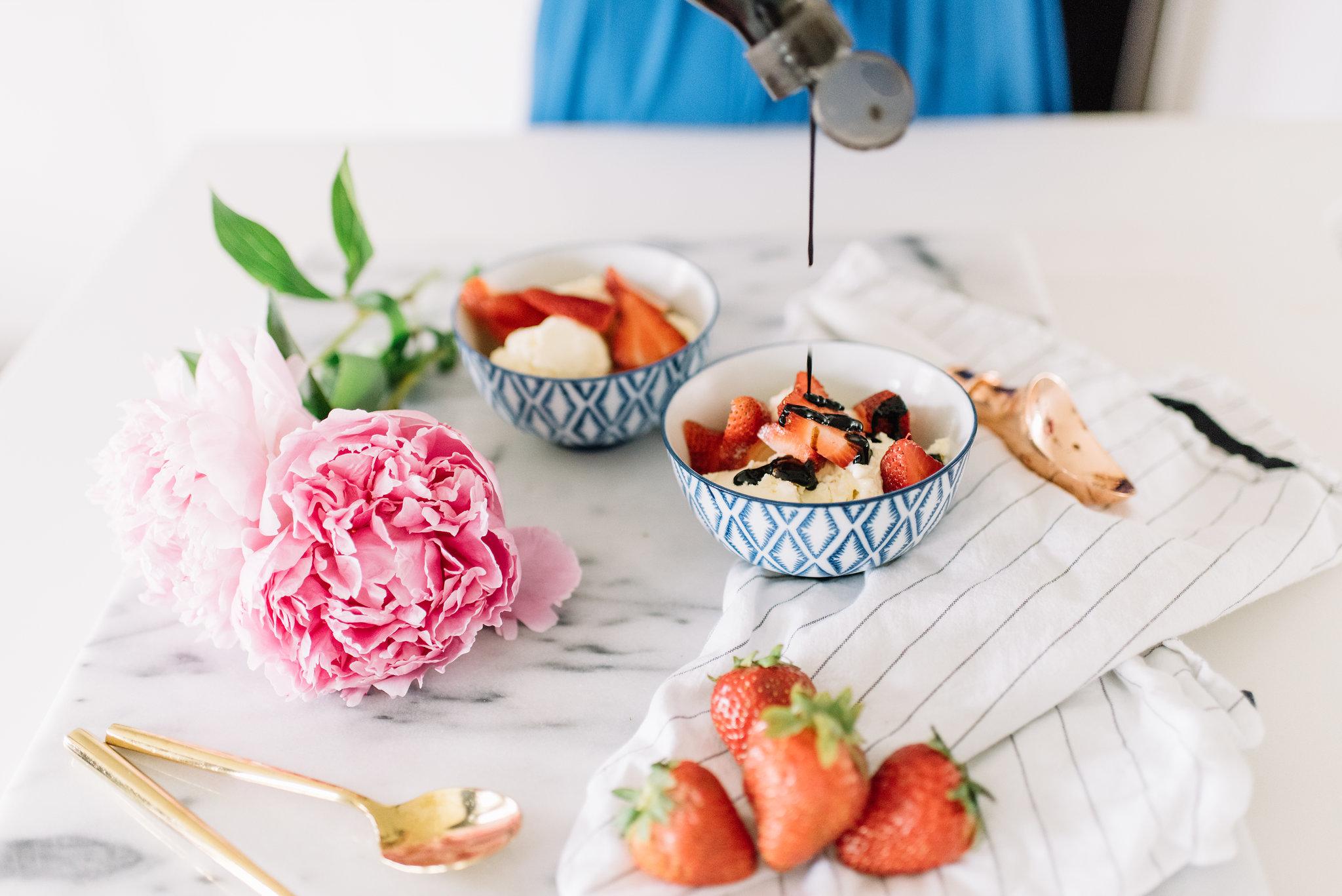strawberries with balsamic glaze