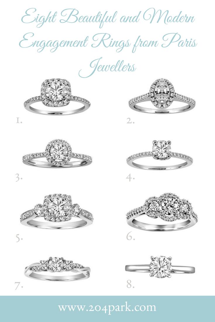 modern engagement rings