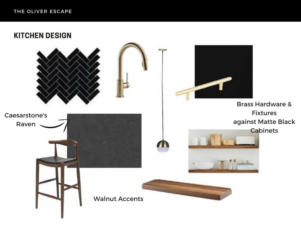 modern black kitchen design
