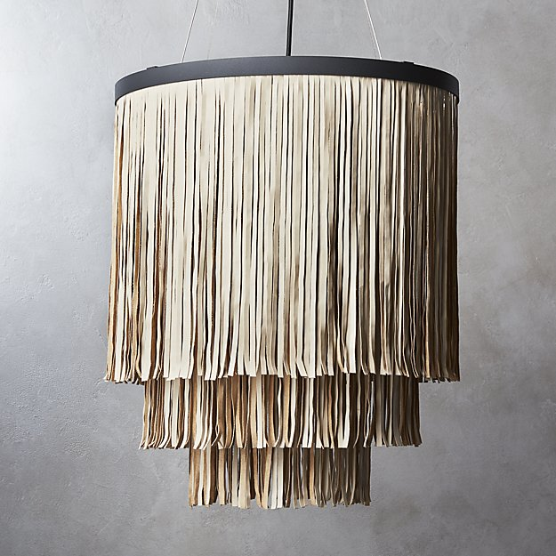leather fringe pendant
