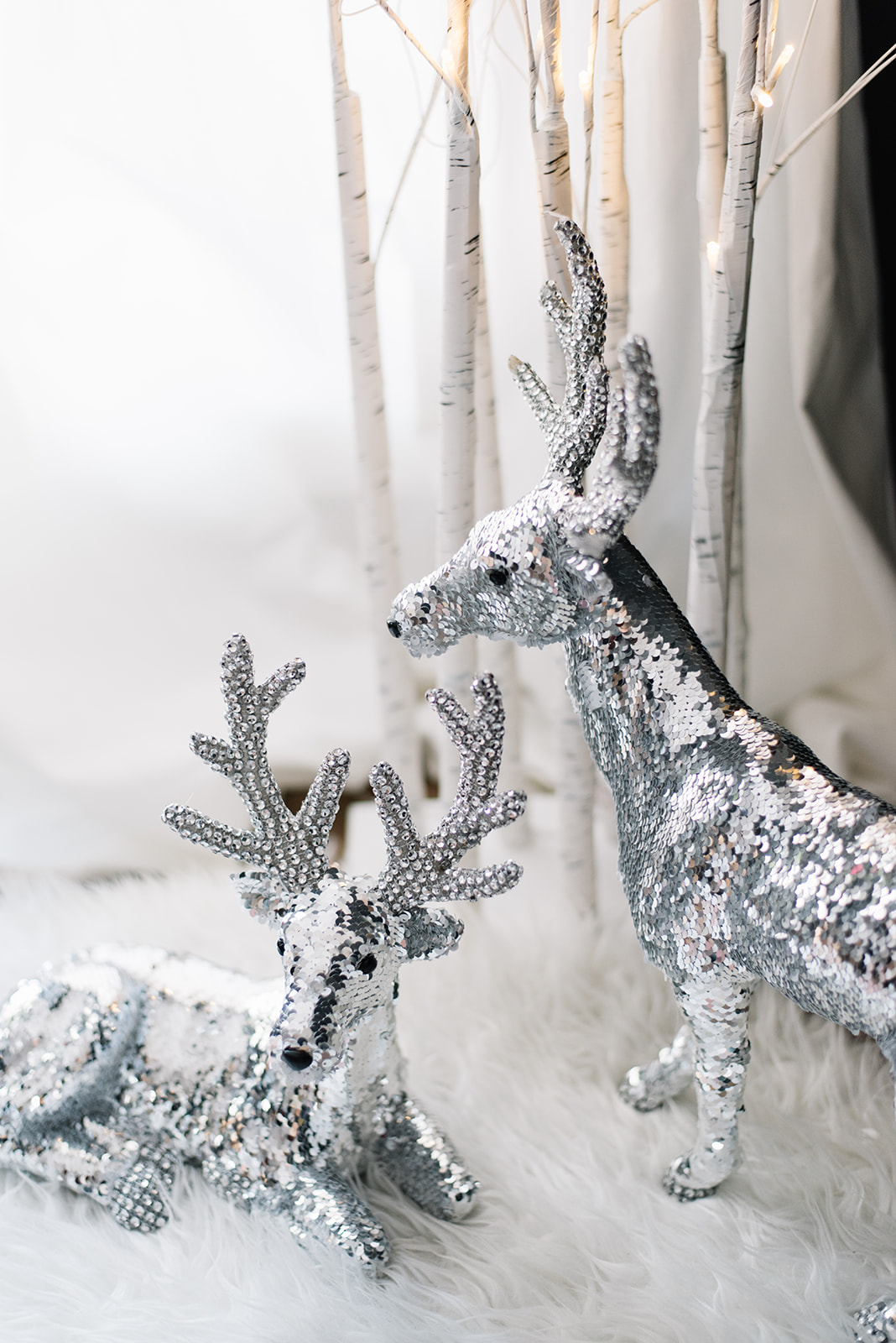 holiday decorating - silver