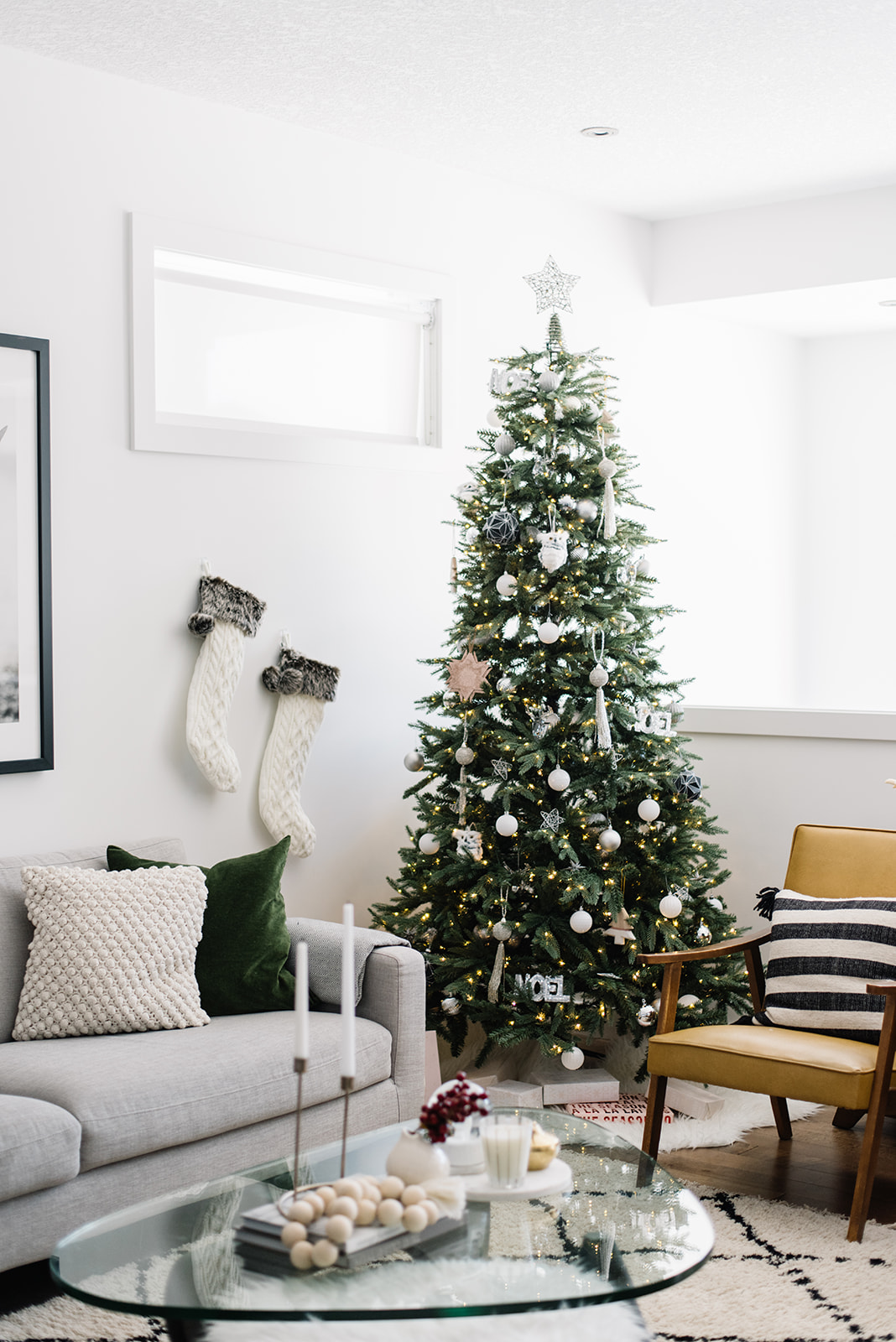 monochromatic christmas tree