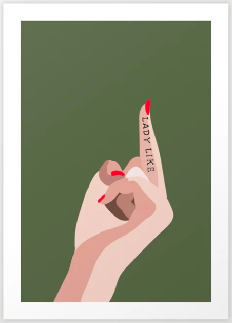 lady like print, affordable artwork