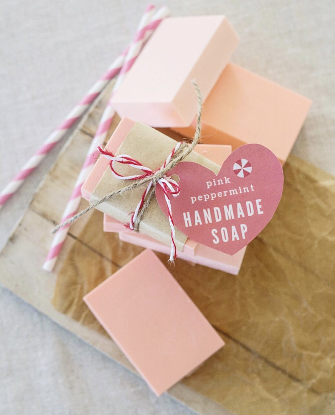 homemade pink soap DIY