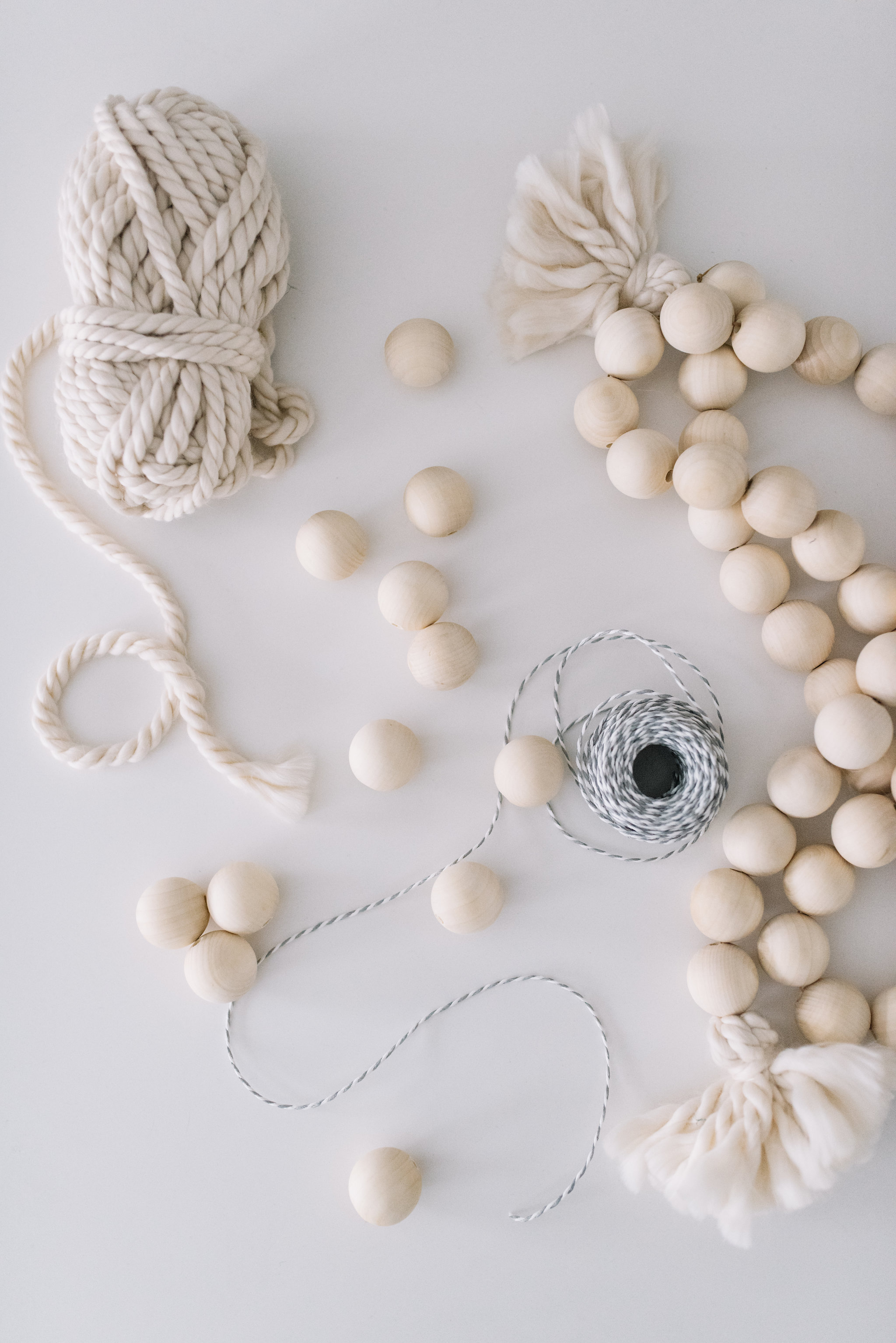 wooden beaded string DIY