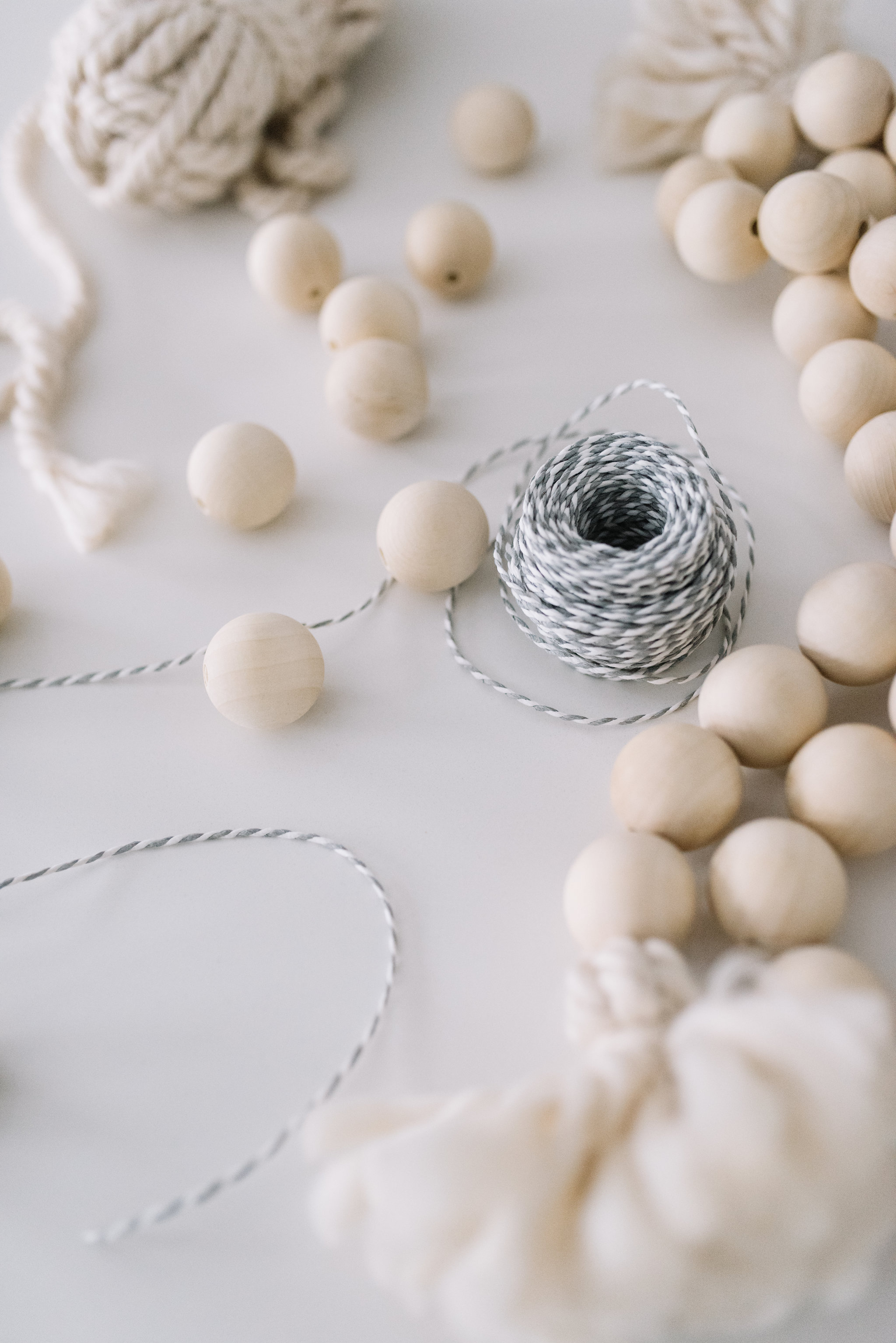decorative wooden bead DIY