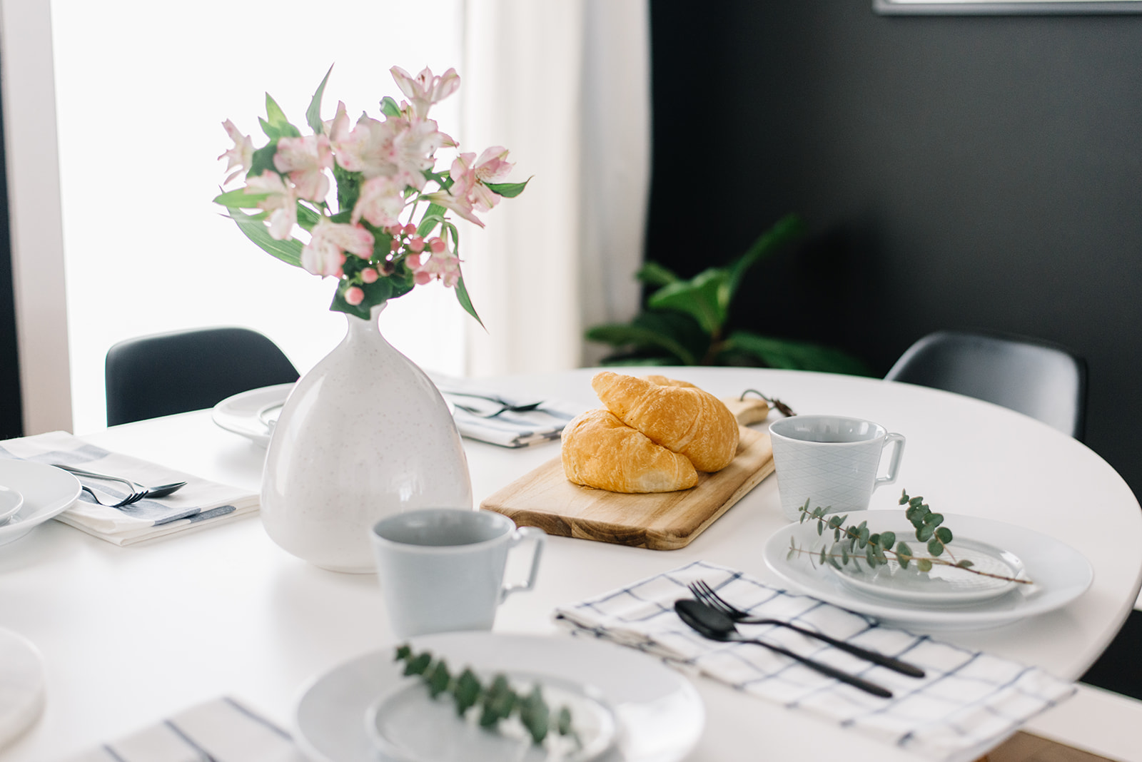 table setting with ikea dishes