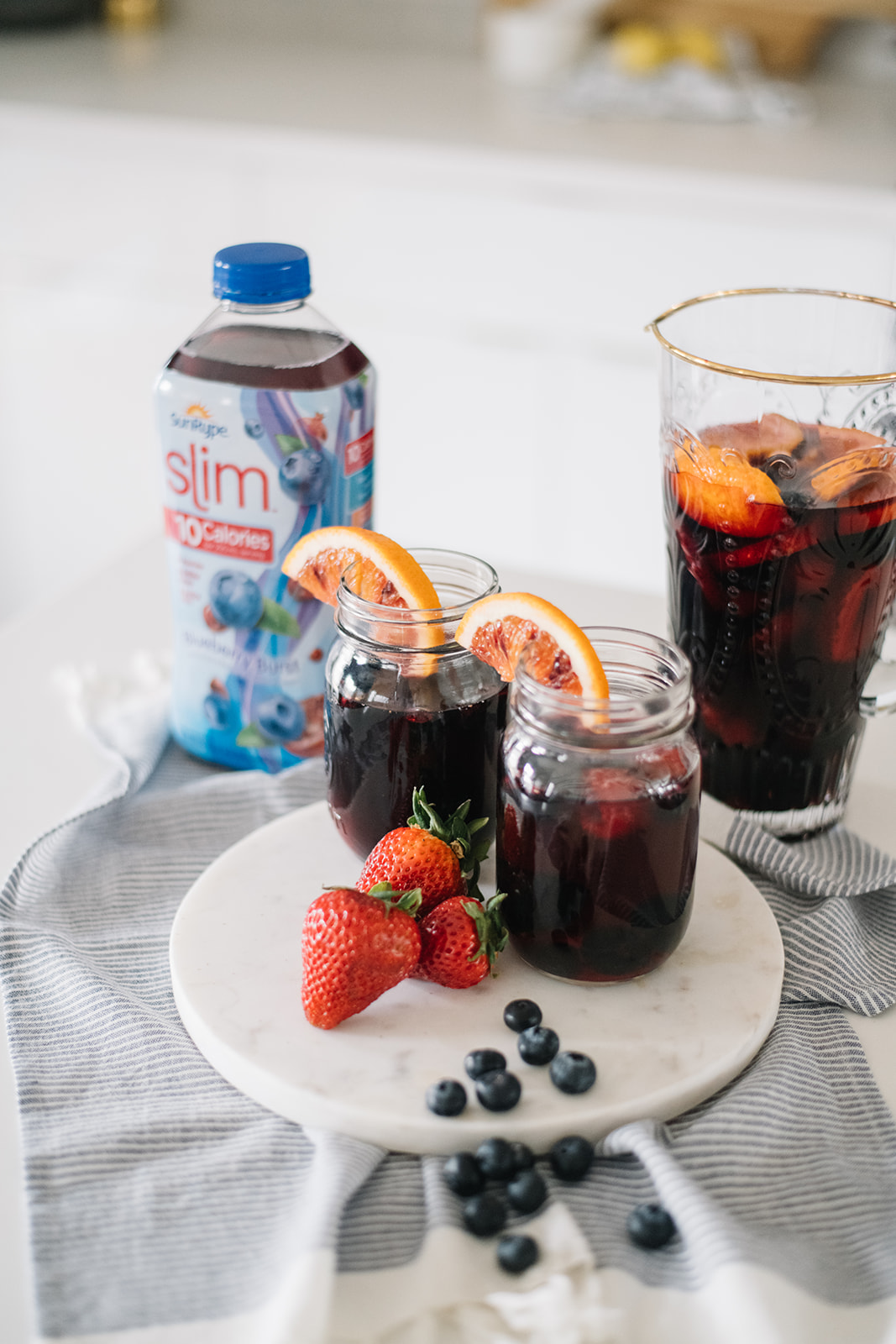 low sugar, low calorie sangria recipe