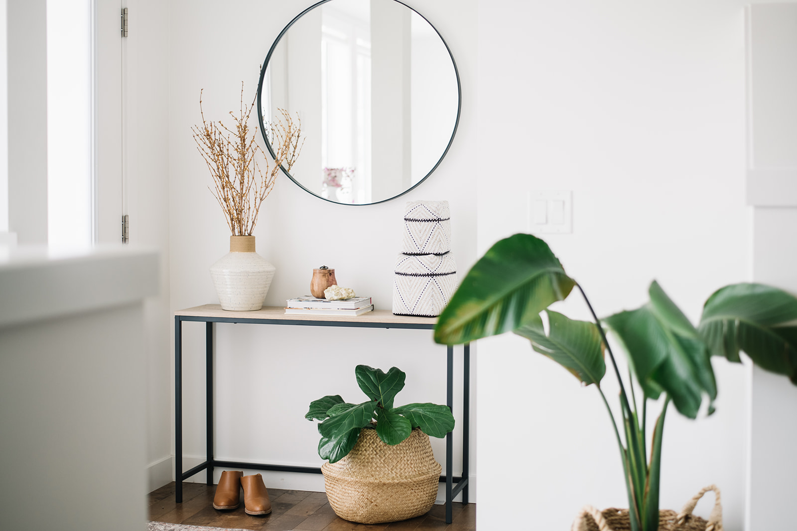 how to style a small front entry