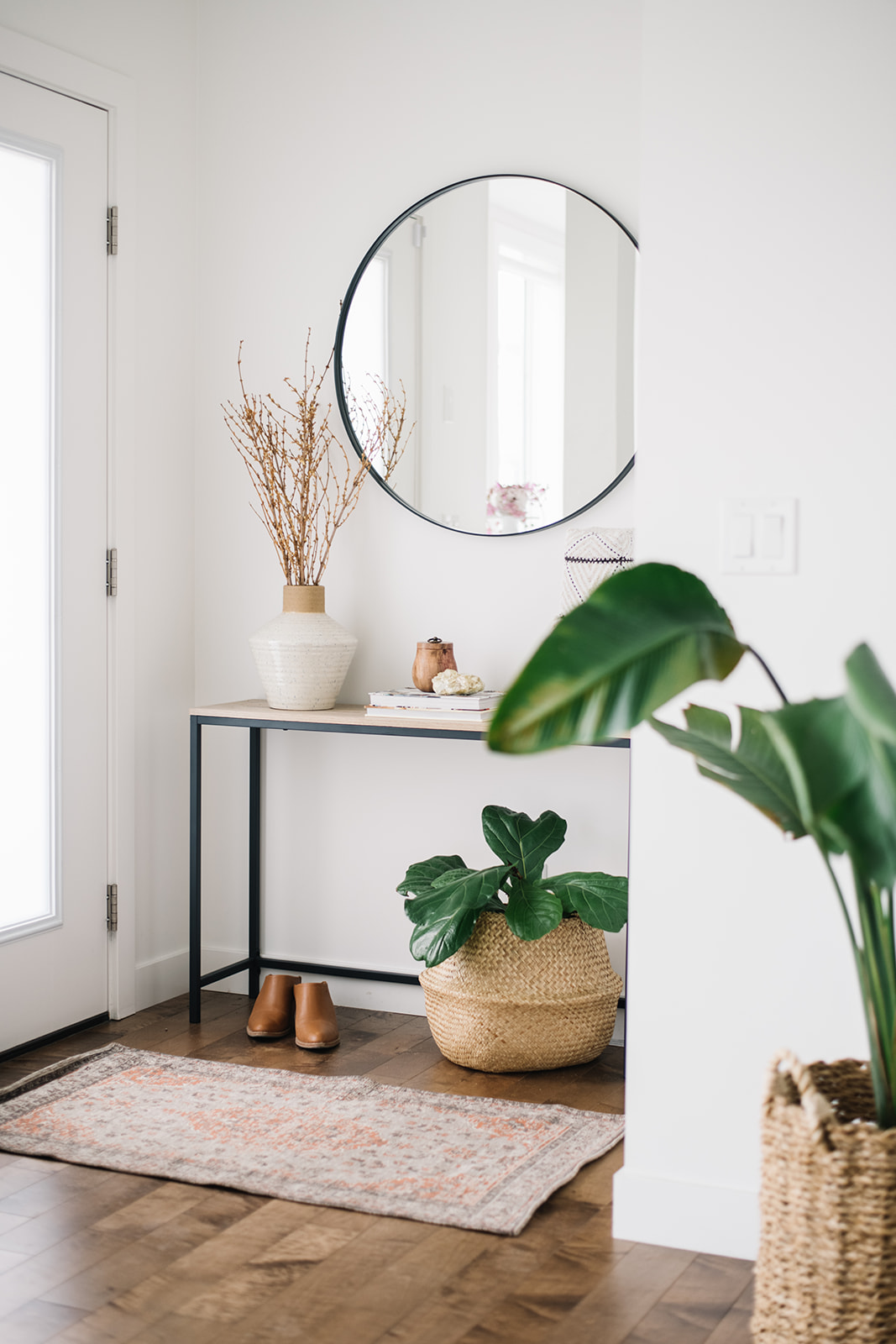 how to decorate a small front entry