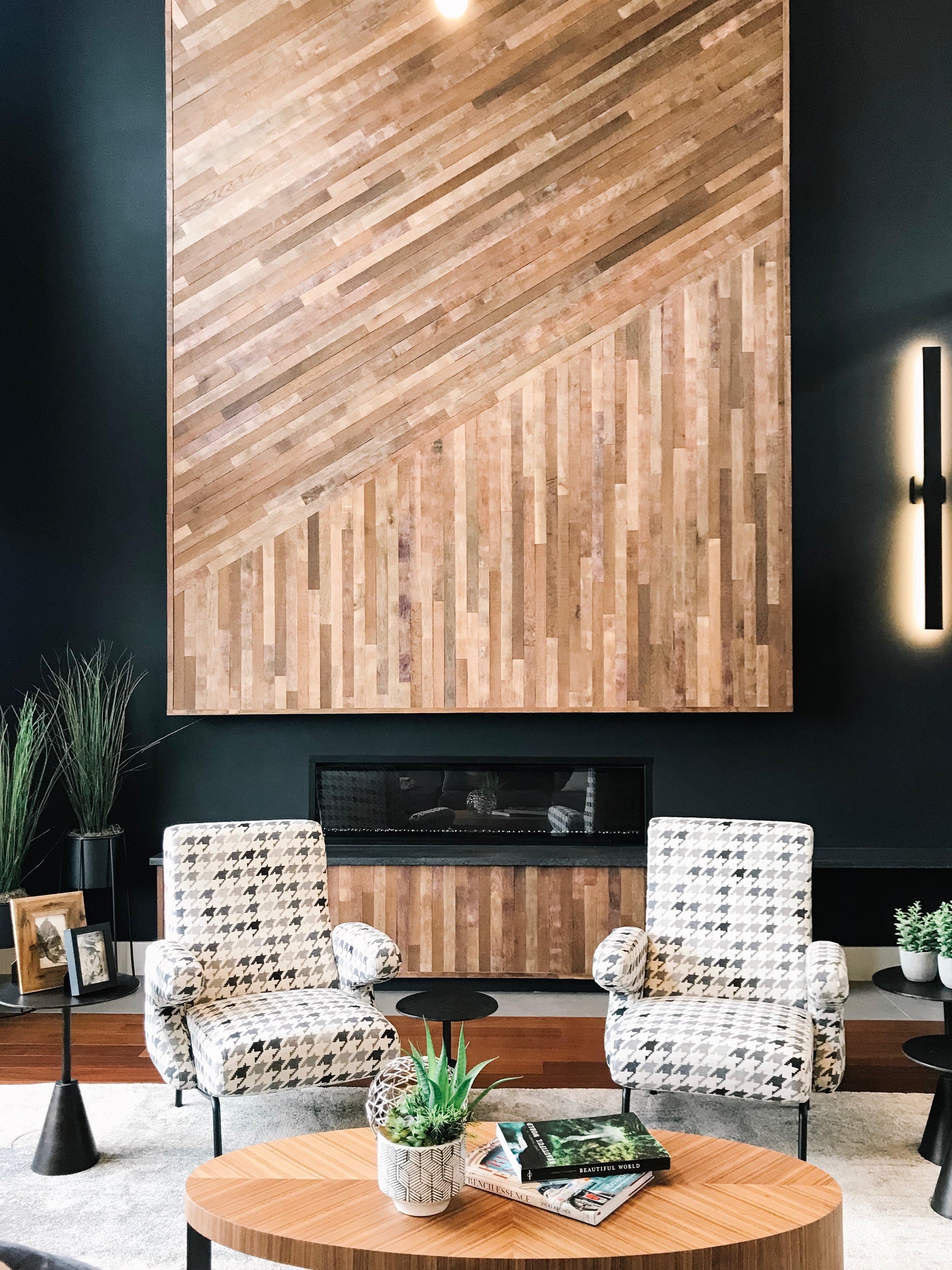 interior design modern wood feature wall
