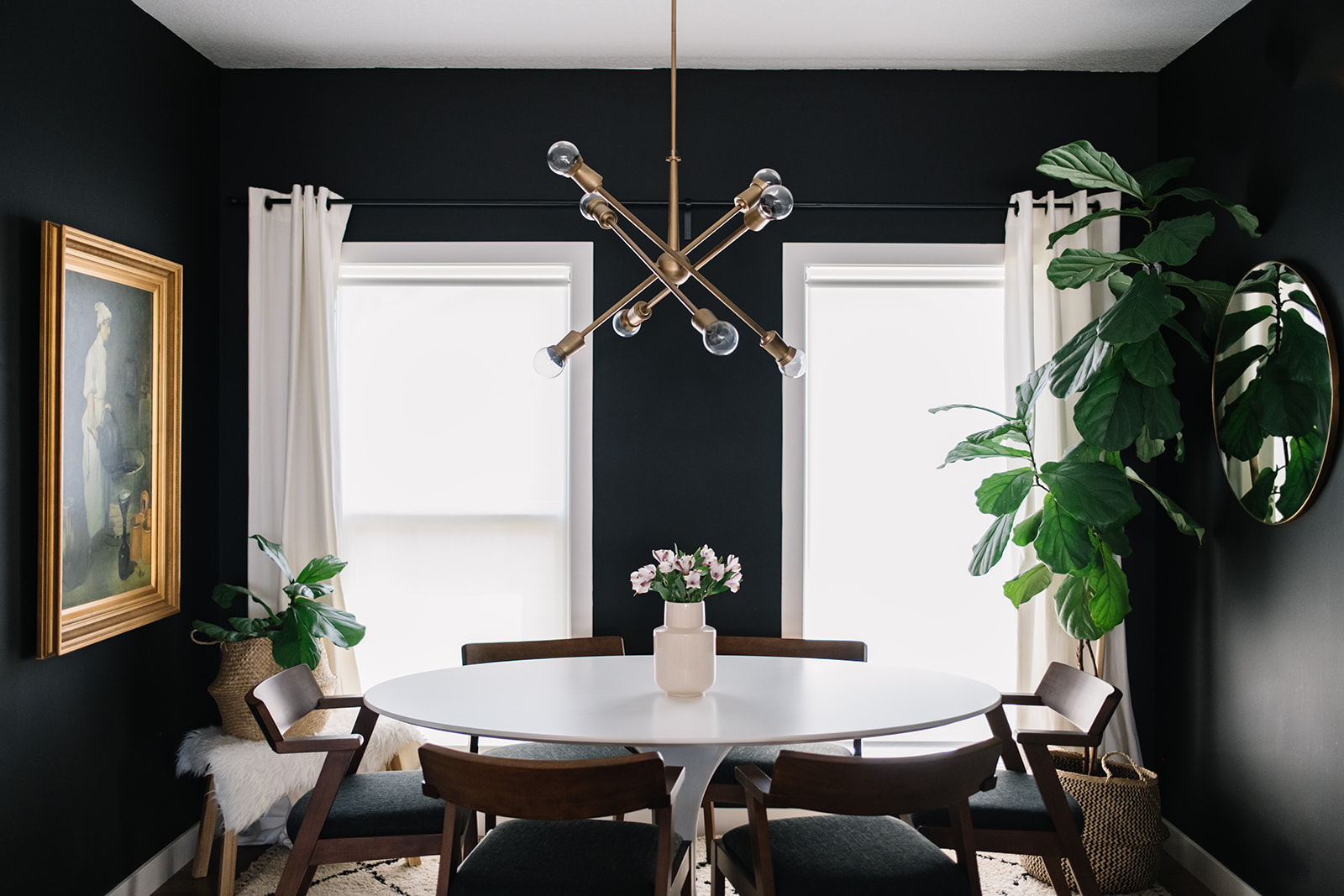 Black, White + Walnut: Our Dining Room Refresh with the ...