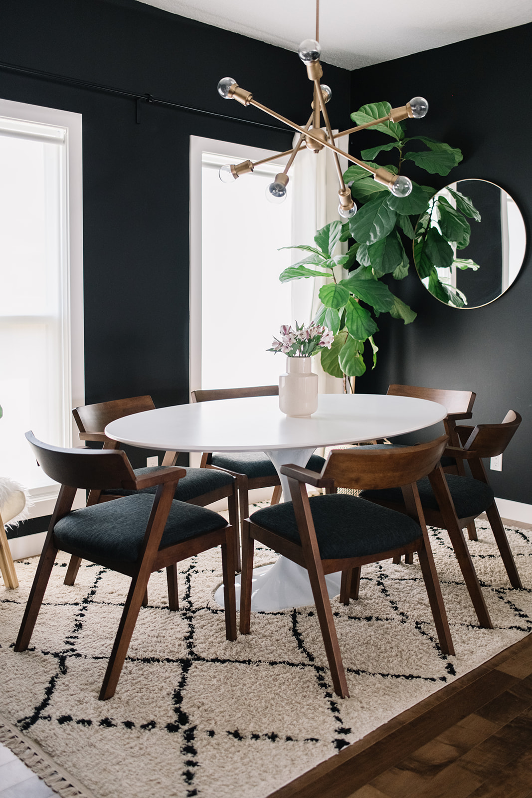 modern eclectic dining table