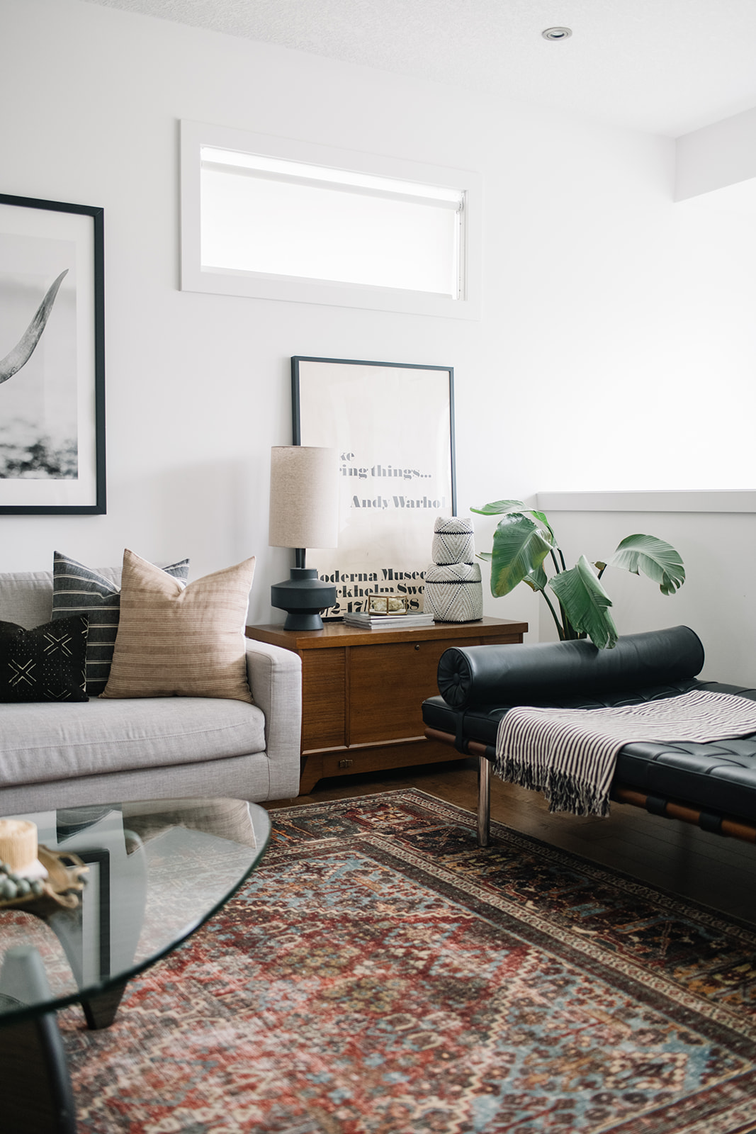 eclectic modern living room