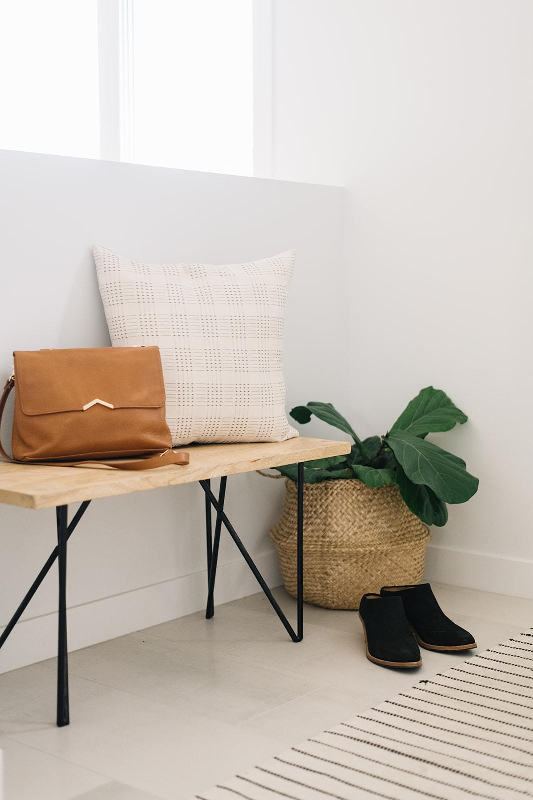 cozy minimalist front entryway