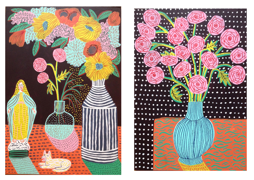 Floral Paintings by Camilla Perkins