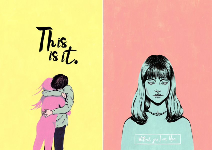 """ This is It "" & "" Without You I Am Blue "" by Adriana Bellet"