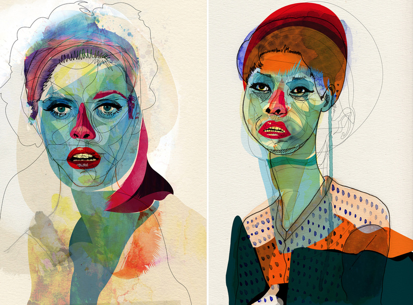 """ Untitled "" and "" Girl_100412 "" by Alvaro Tapia Hildago"