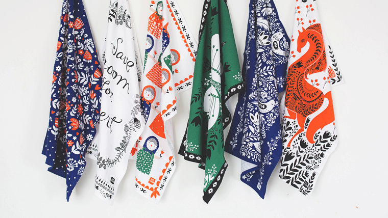 Assortment of Tea Towels by Dinara Mirtalipova