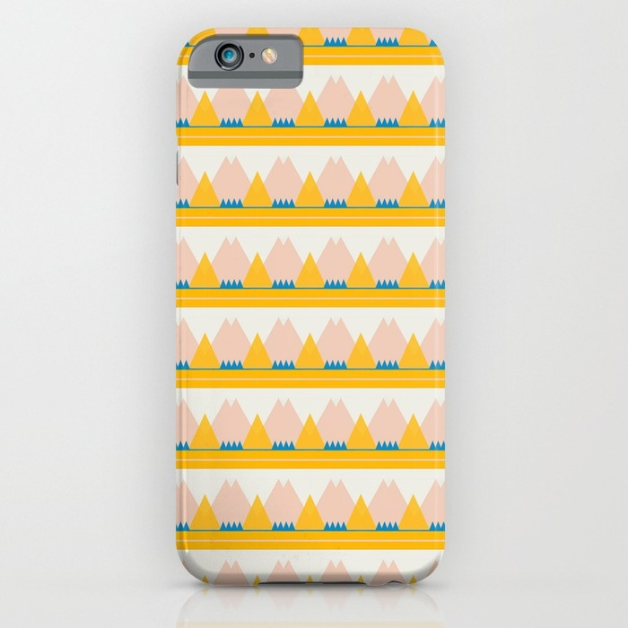 """Pink and Gold Mountains"" -  iphone case"