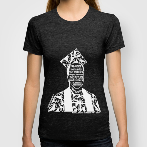 """""""Michael Brown - Black Lives Matter - Series - Black Voices"""" -  Tee Shirt proceeds go to National Police Accountability Project"""
