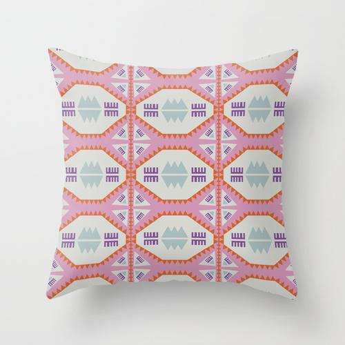 """Geometric x Southwestern Love"" -  throw pillow"