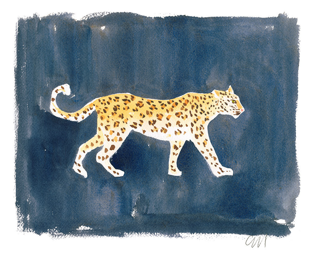 """Leopard on Ink"" by Caitlin McGauley"