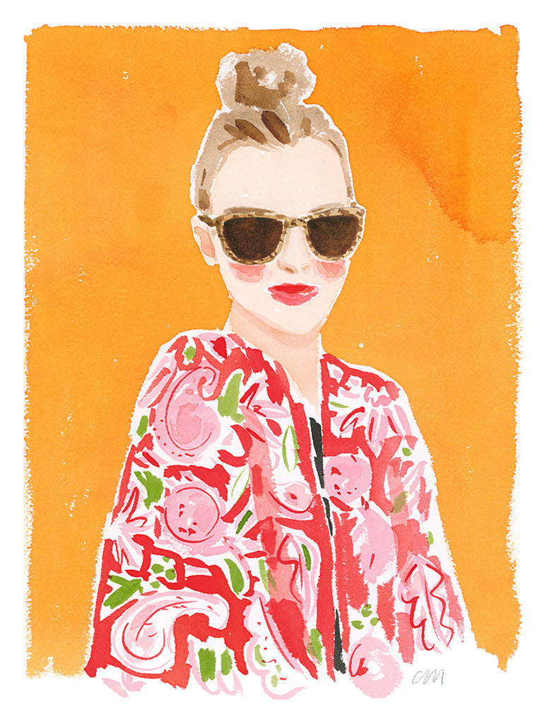 """Top knot and Caftan"" by Caitlin McGauley"