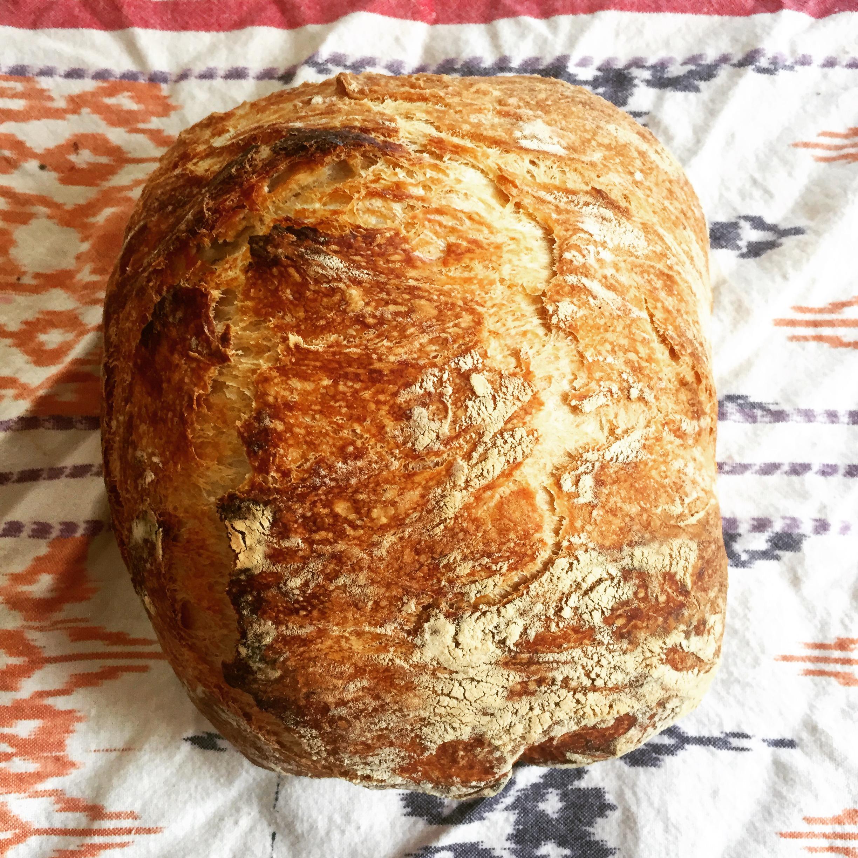 No Knead Crusty Bread 🍞