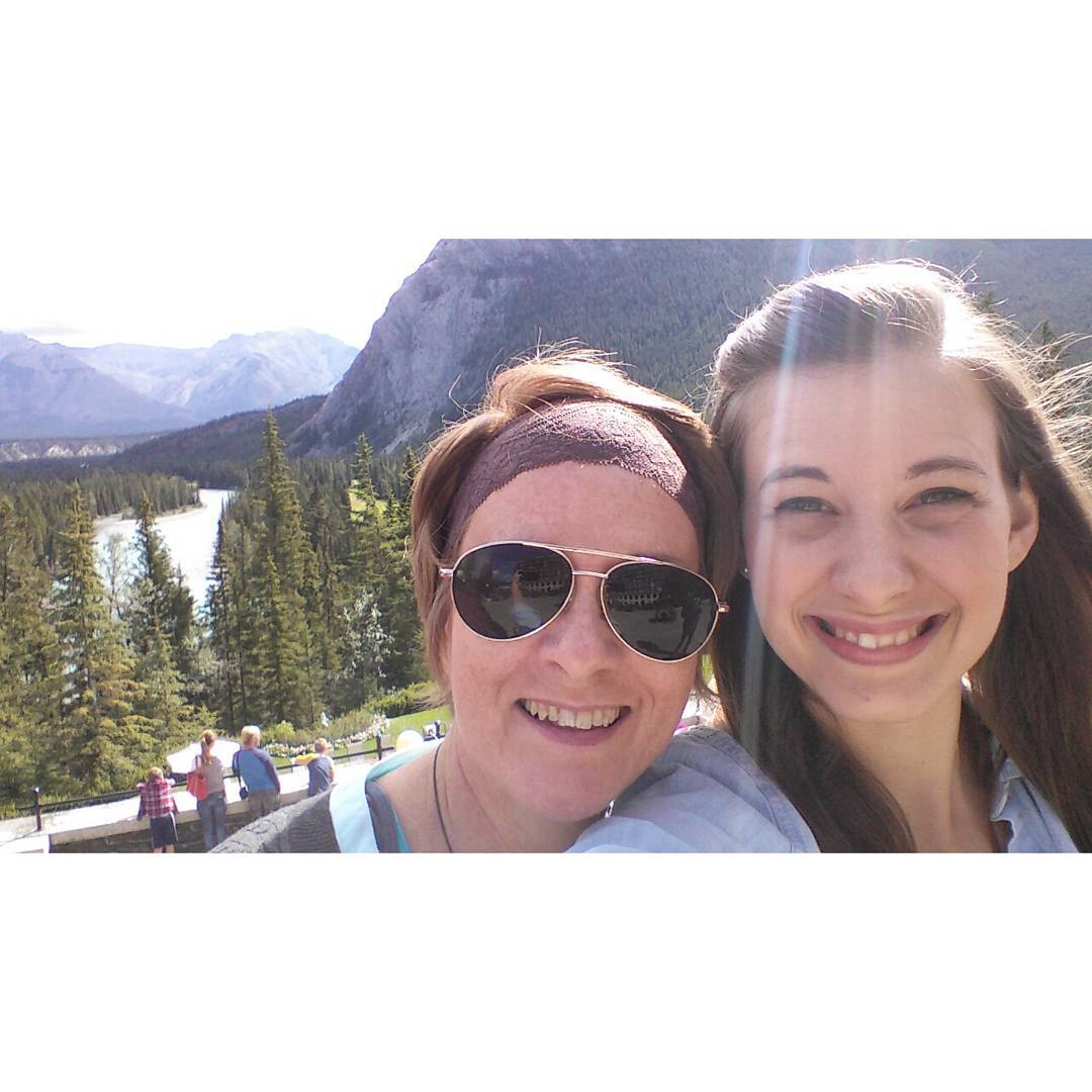 me and my girl, on the terrace of the Banff Springs Hotel a few weeks ago