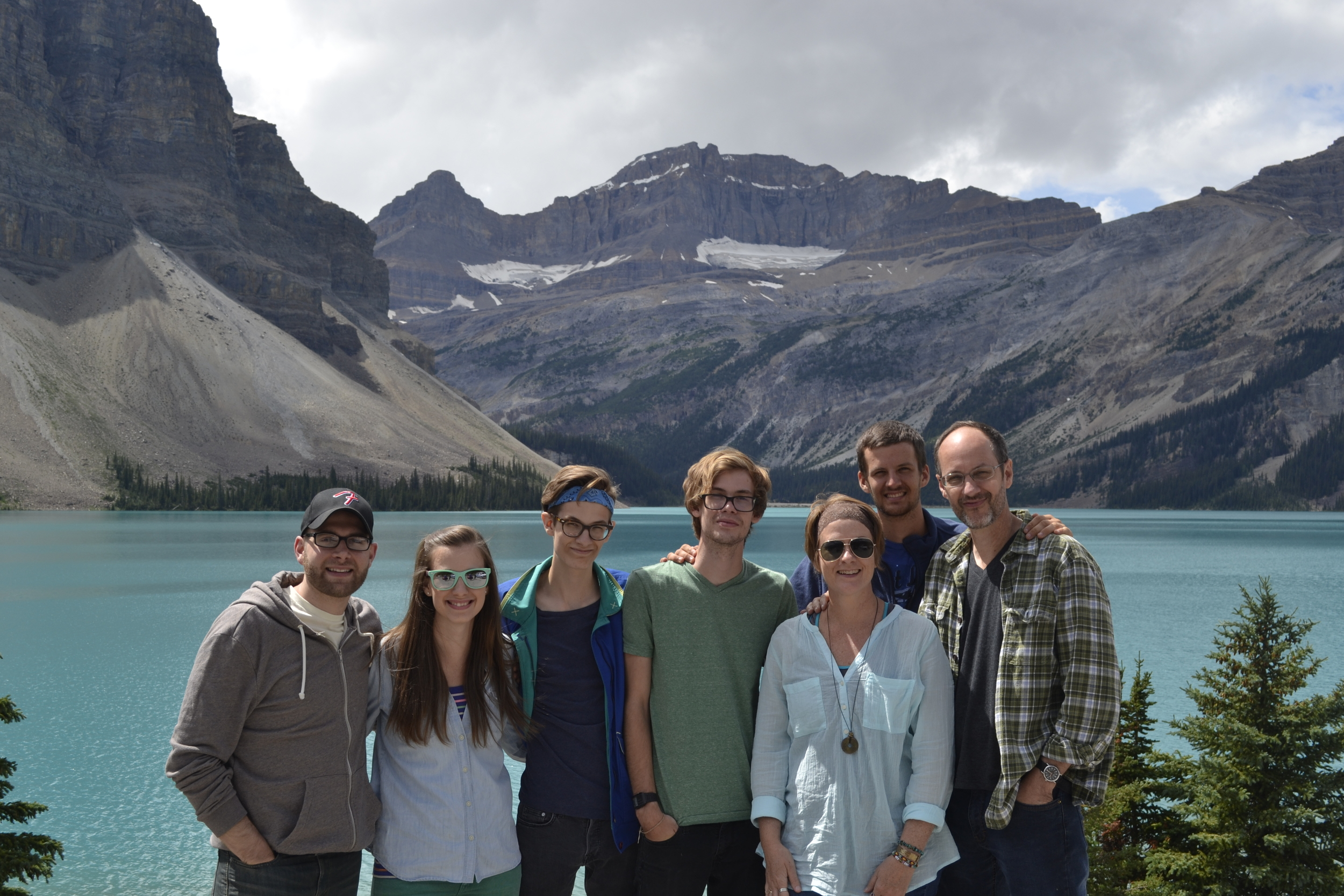 me with my favorite people, Bow Lake, Banff National Park, Canada
