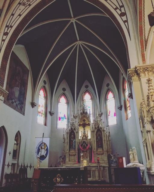 "St. Mary's Catholic Church, Fredericksburg, Texas; one of the ""painted churches"" of Texas(photo: Libby Davis)"
