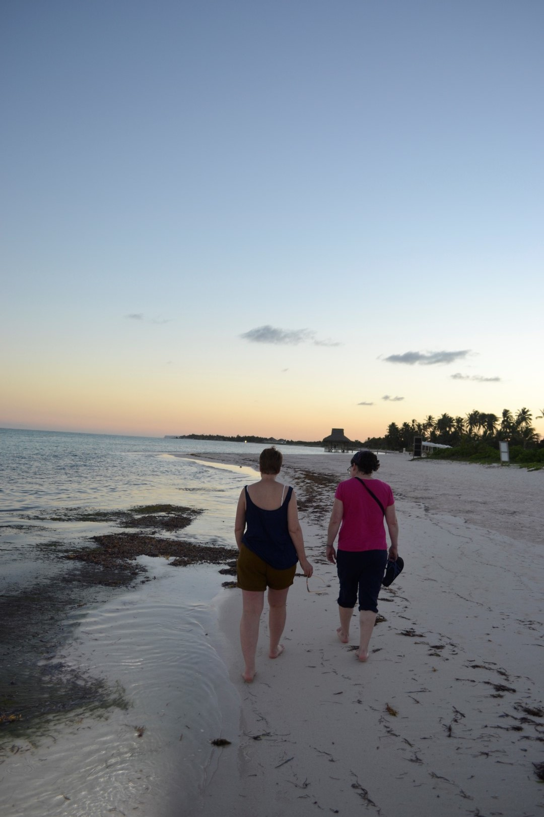 self and friend, walking the beach in the Dominican Republic  (photo:  Andy Bruner)
