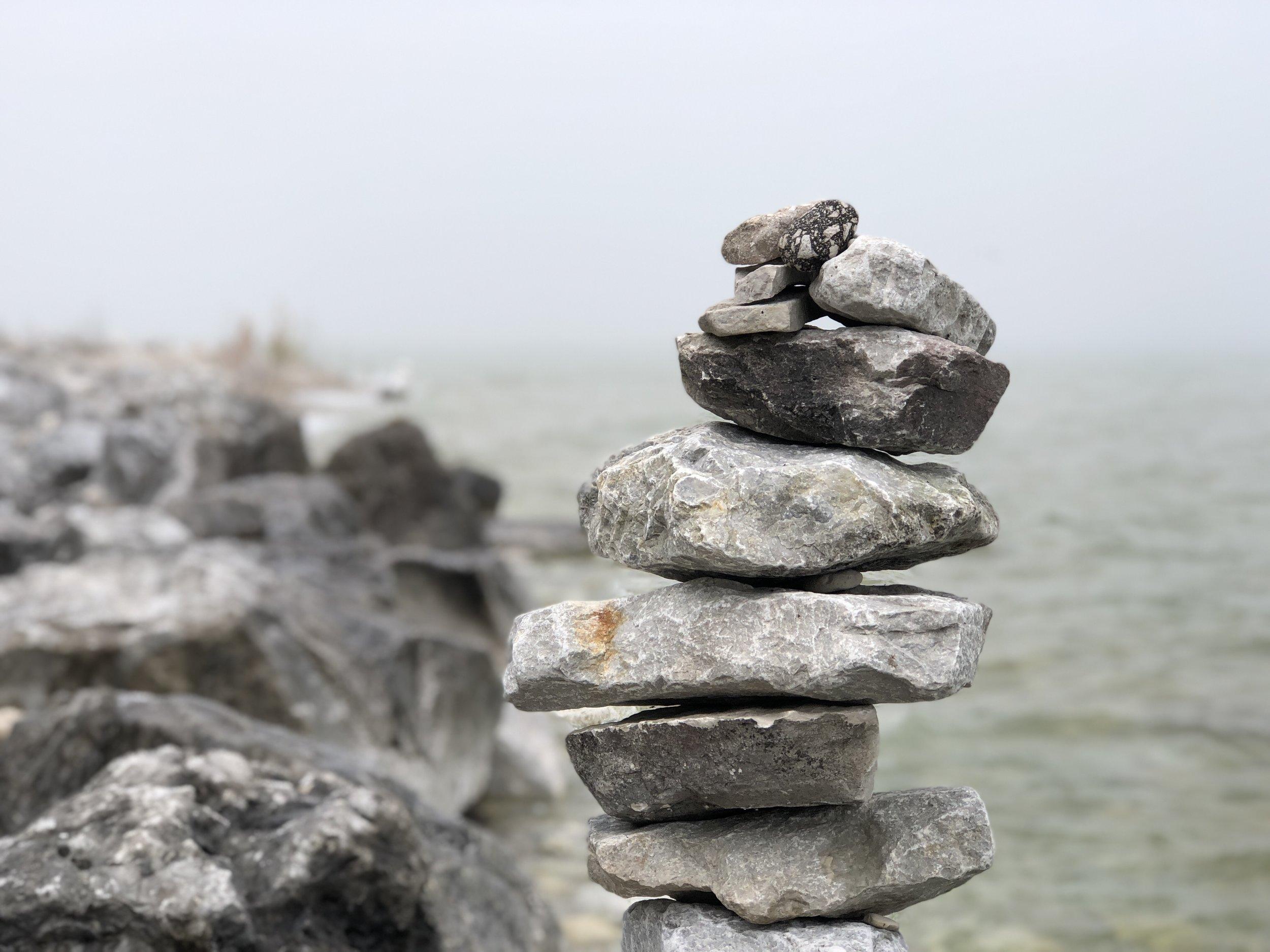 Rock sculpture, Mackinac Island, MI. photo: Andy Bruner