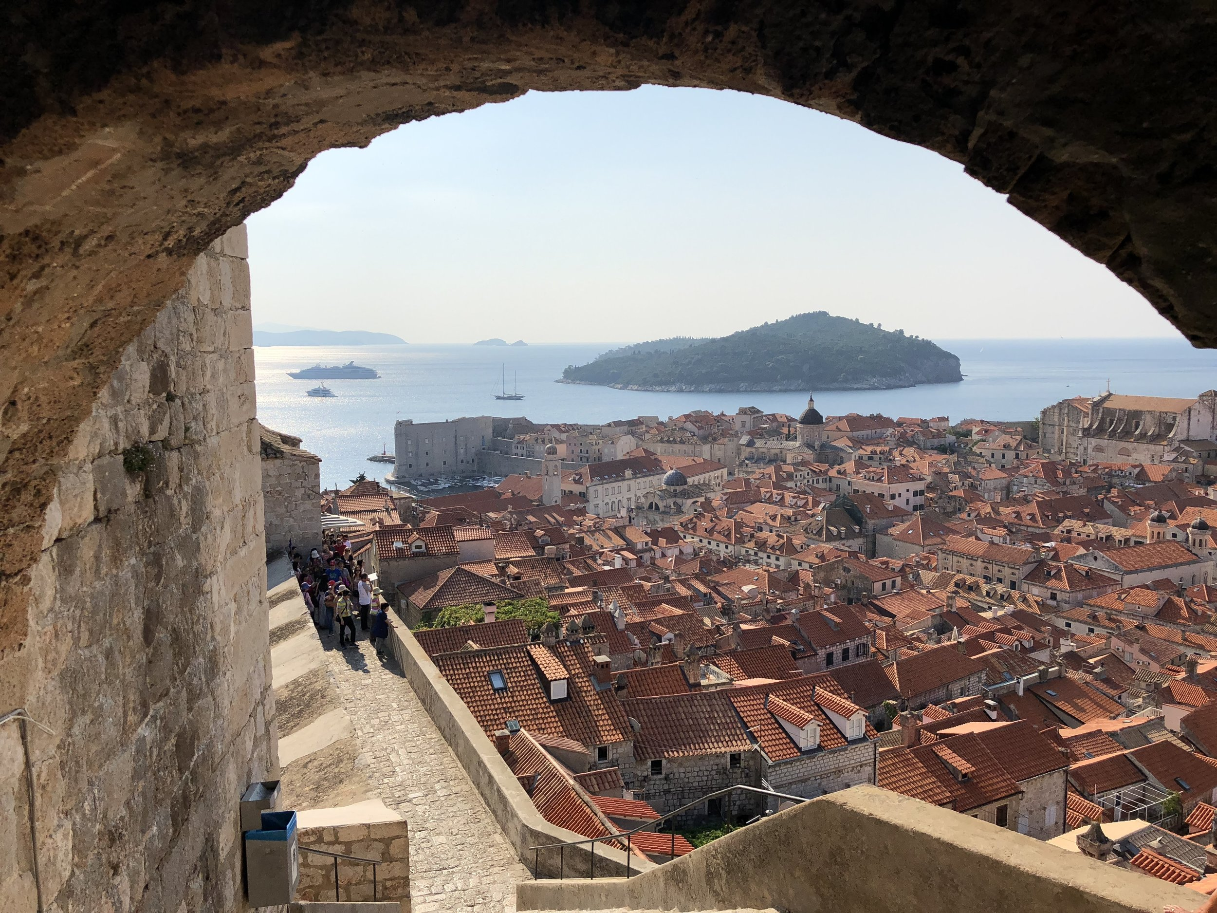 A formidable boundary: the ancient walls of Dubrovnik, Croatia