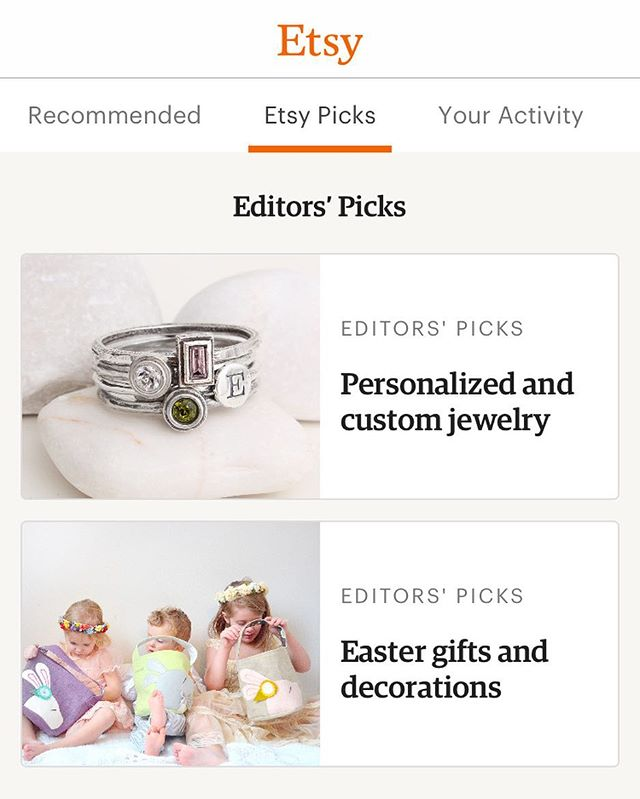 Quick launch your Etsy app and tap Etsy Picks - my girls, nephew and baskets are featured! That's home page on the website baby 👊🏻 🙌🏻 😂!!! #impracticallyfamous, #etsy, #etsyseller