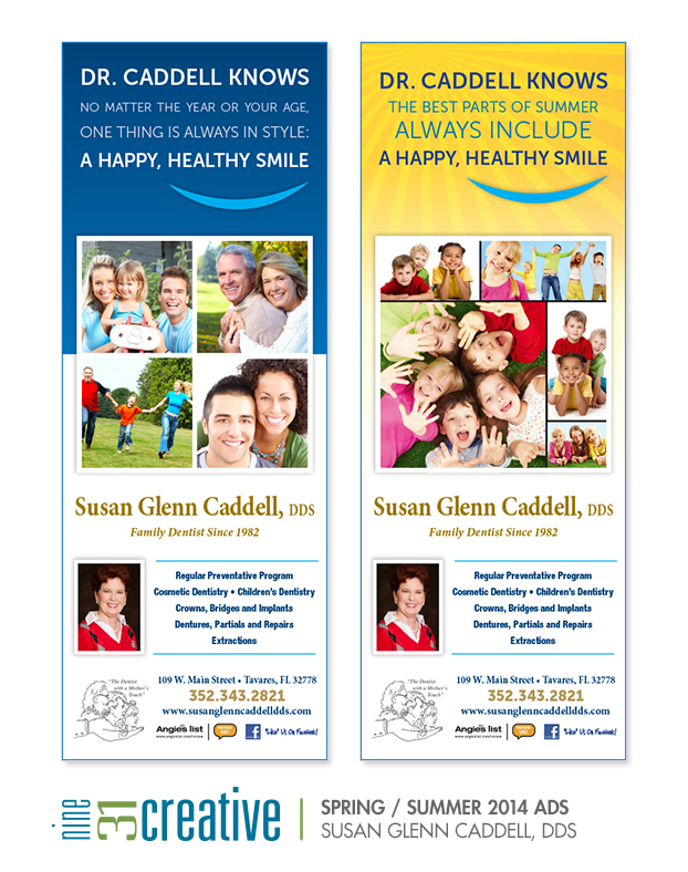 Spring/Summer Ads for Dr. Susan Glenn Caddell