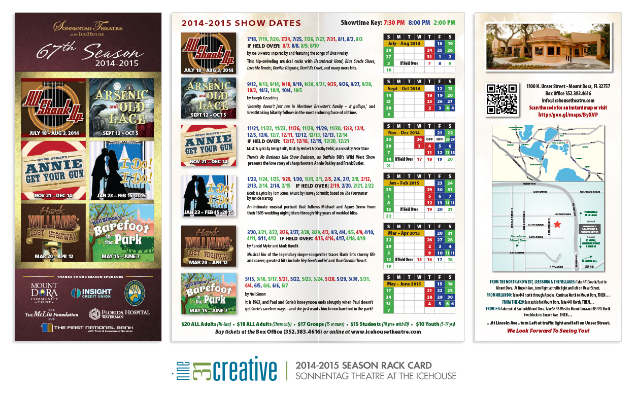 4x9 Rack Card - 2014-2015 Season