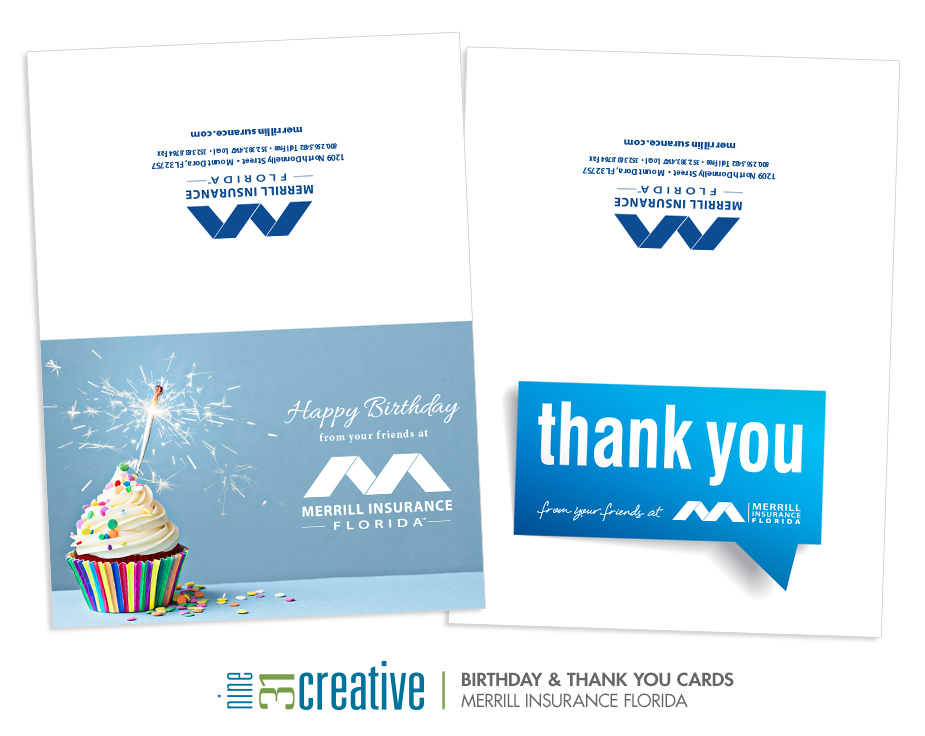 Thank You & Birthday Cards - Merrill Insurance Florida