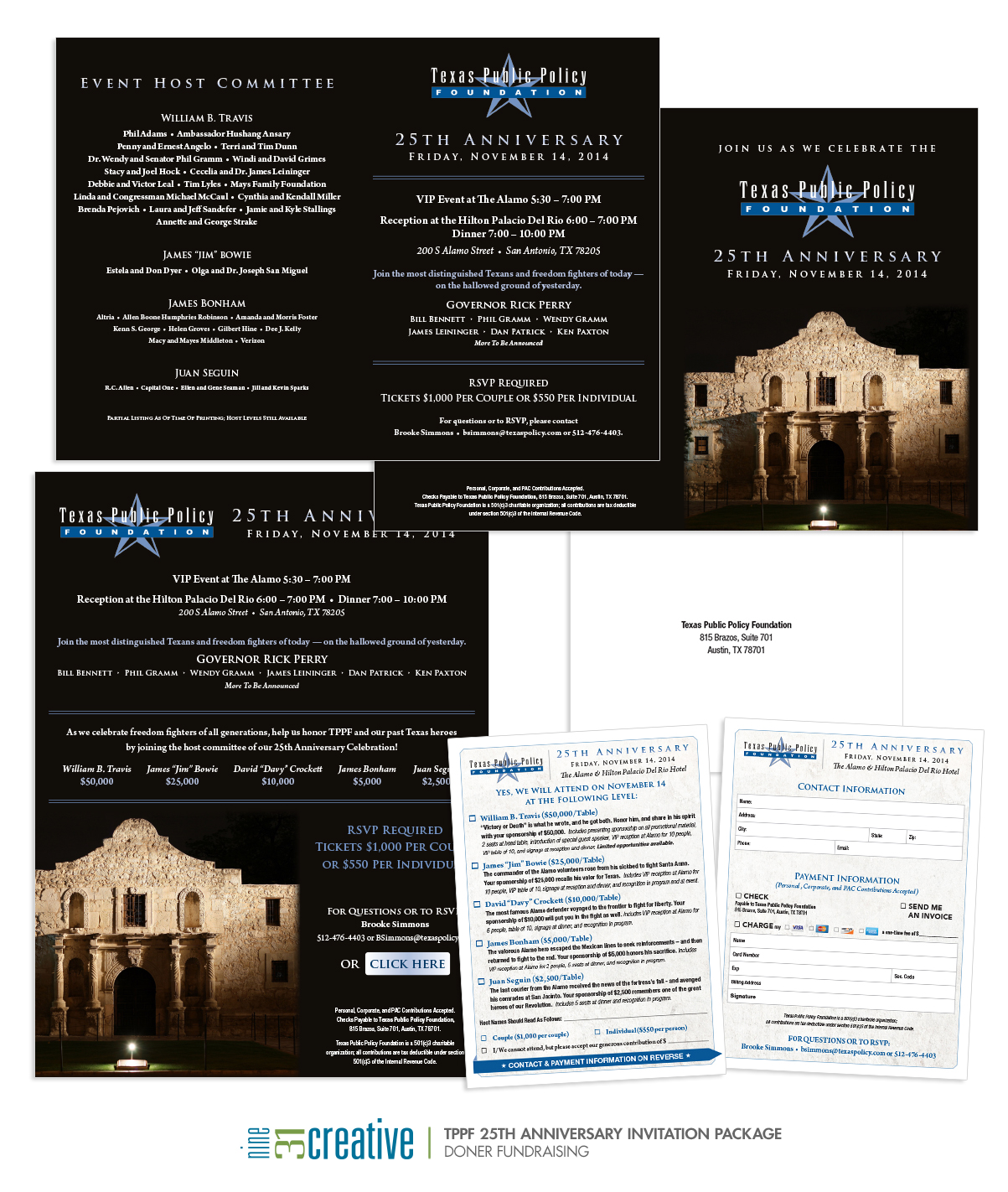 TPPF 25th Anniversary Invitation Package - Doner Fundraising
