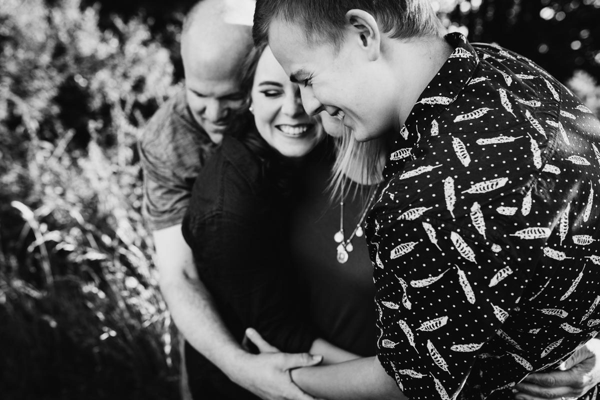 group hug seattle family photographer